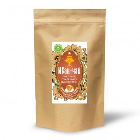 Иван-чай листовой, томленый в русской печи, 40 гр.