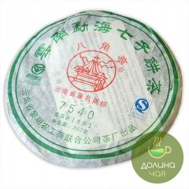 """Пуэр шен Мэнхай Лимин """"7540"""", 2009 г., 357 гр."""