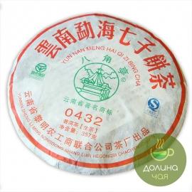"""Пуэр шен Мэнхай Лимин """"0432"""", 2009 г., 357 гр."""