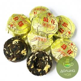 Пуэр Цзю Хуа (с хризантемой) мини то ча, 5 шт.