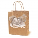 Крафт пакет подарочный «Зимушка краса»
