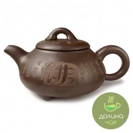 Чайник «Иероглиф», глина, объем 800 мл.