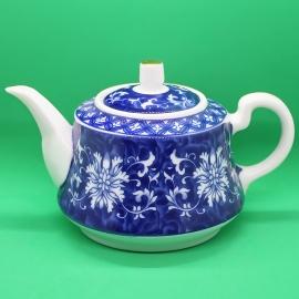 Фарфоровый чайник «Синий цветок», объем 230 мл.