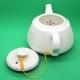 Фарфоровый чайник «Золотая нить», объем 220 мл.