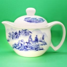 Фарфоровый чайник «Синий пейзаж», объем 350 мл.