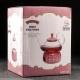 """Стеклянный чайник """"Элегия Ред"""", объем 600 мл. с подставкой подогревателем"""